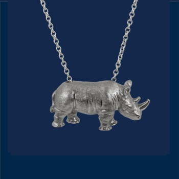 be-jewelled for wildaid by alexander jewell 18k gold white rhino pendant