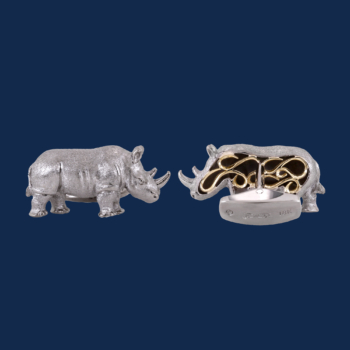 wild aid handcrafted 18k gold rhino cuff links alexander jewell