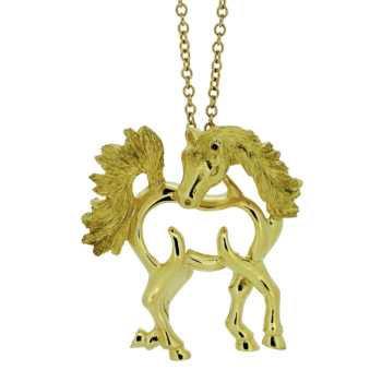 Arabian gold Horse Pendant