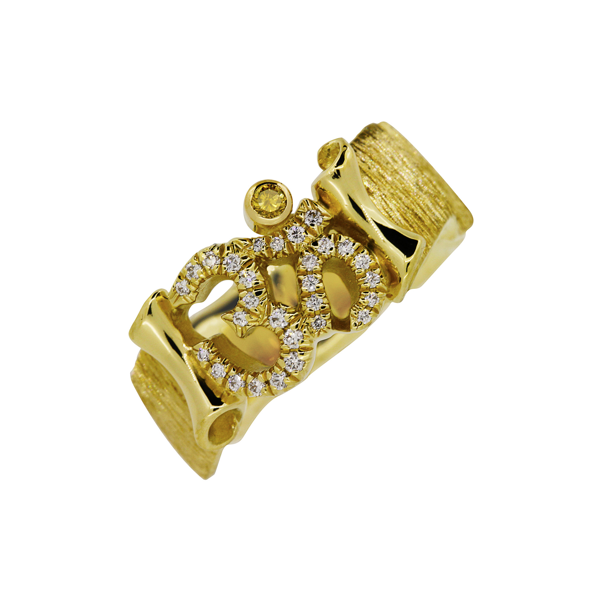 Om Ring fine Diamonds Custom