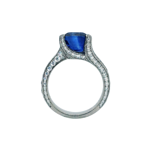 Burmese Sapphire and Diamond Ring