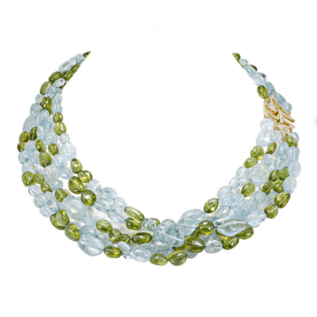 Aquamarine nacklace hand-crafted by Frank Alexander Jewell