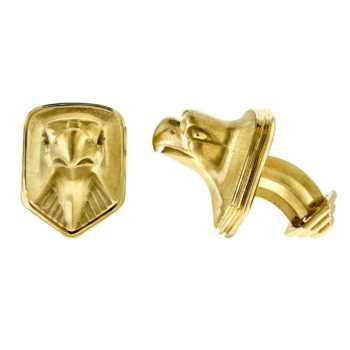Gold cufflinks custom crafted by Alexander Jewell