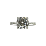 Diamond engagement ring hand-crafted by Frank Alexander Jewell