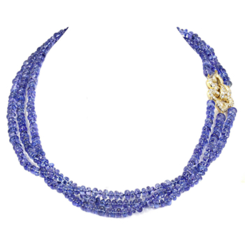 Tanzanite necklace hand-crafted by Frank Alexander Jewell