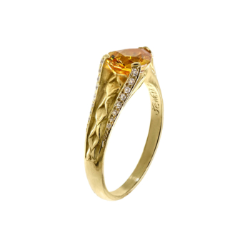 Yellow sapphire ring hand-crafted by Frank Alexander Jewell