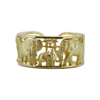 Gold bracelet handcrafted by Frank Alexander Jewell