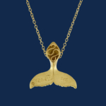 be-jewelled for wildaid endangered species fine jewelry 18k gold humpback whale tail handcrafted by alexanader jewell