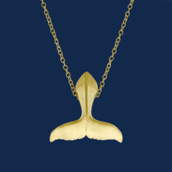 be-jewelled for wildaid endangered species fine jewelry handcrafted by alexander jewell 18k gold humpback whale tail pendant