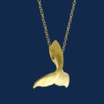 18k gold humpback whale tail handcrafted by alexander jewell wildaid endangered species fine jewelry bejewelled for wildaid