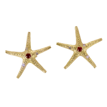 handcrafted 18k gold starfish earrings alexander jewell
