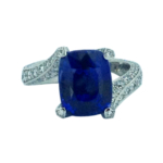 custom burmese blue sapphire and diamond engagement ring handcrafted by alexander jewell