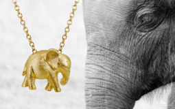 wildAid endangered species line 18k handcrafted baby elephant pendant in 18k gold